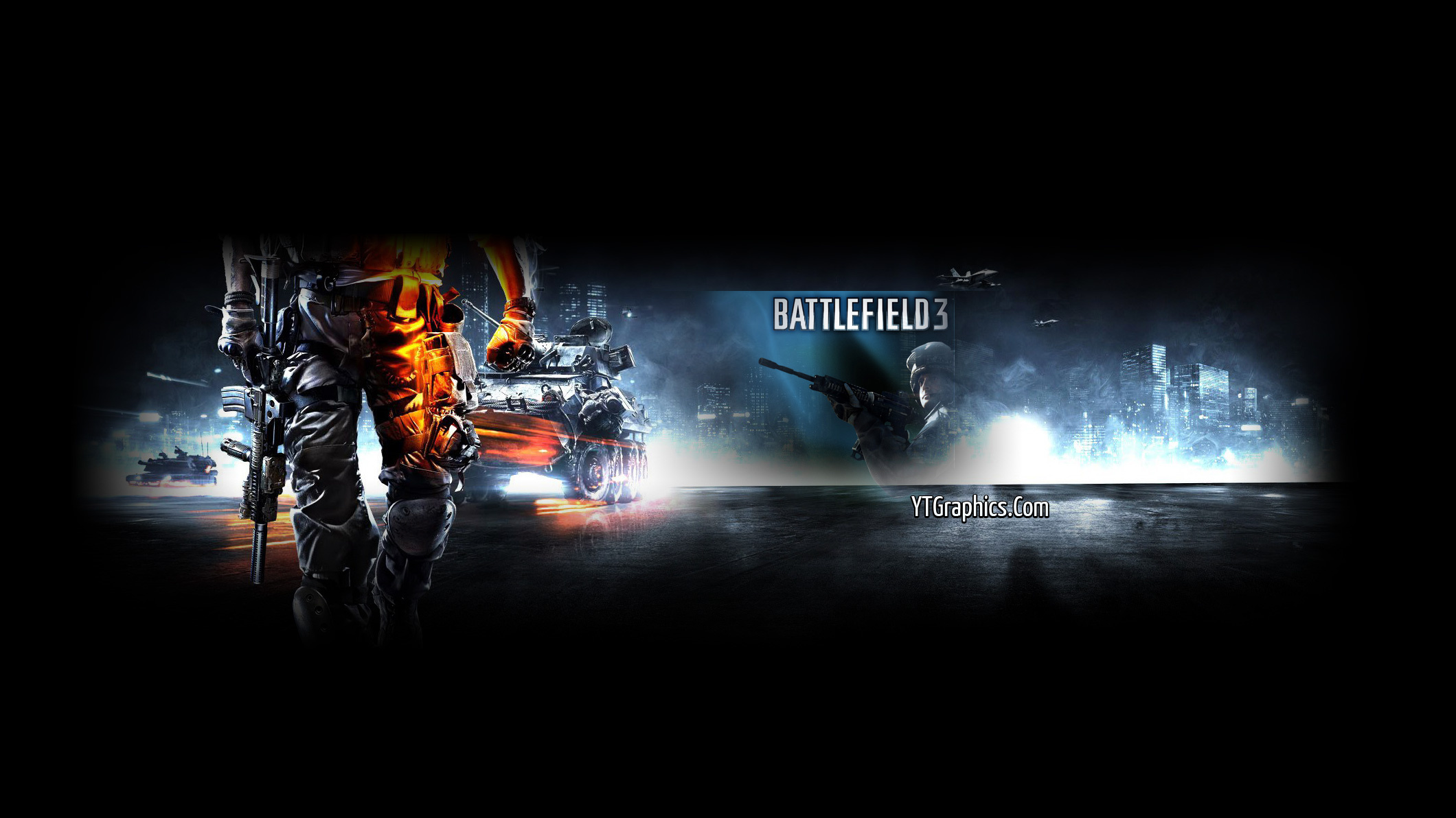 Battlefield 3 Channel Art Banner Youtube Channel Art Banners