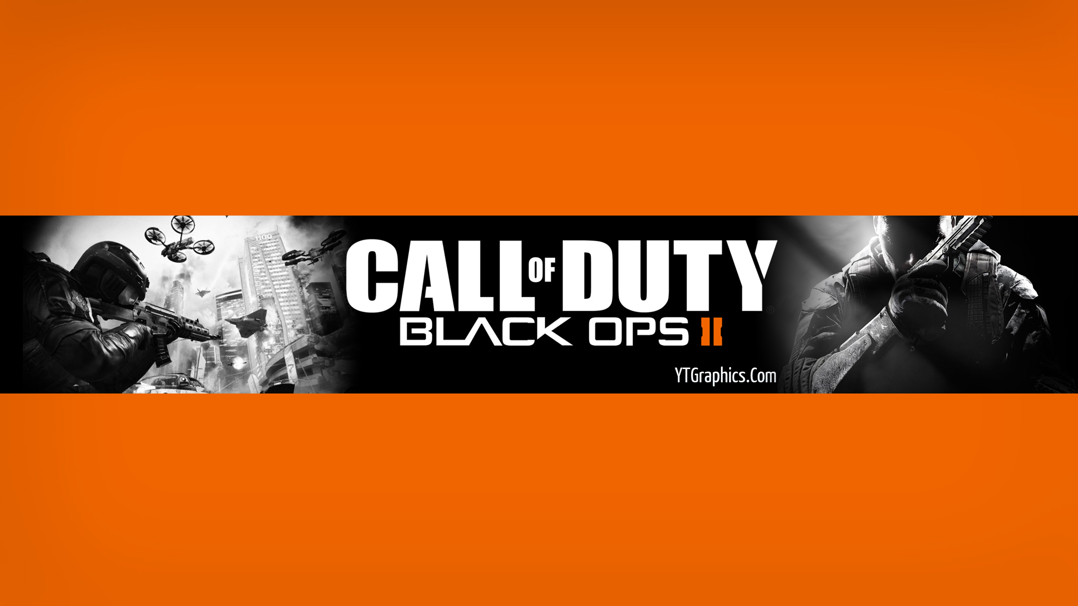 Black Ops 2 Channel Art Banner - YouTube Channel Art Banners