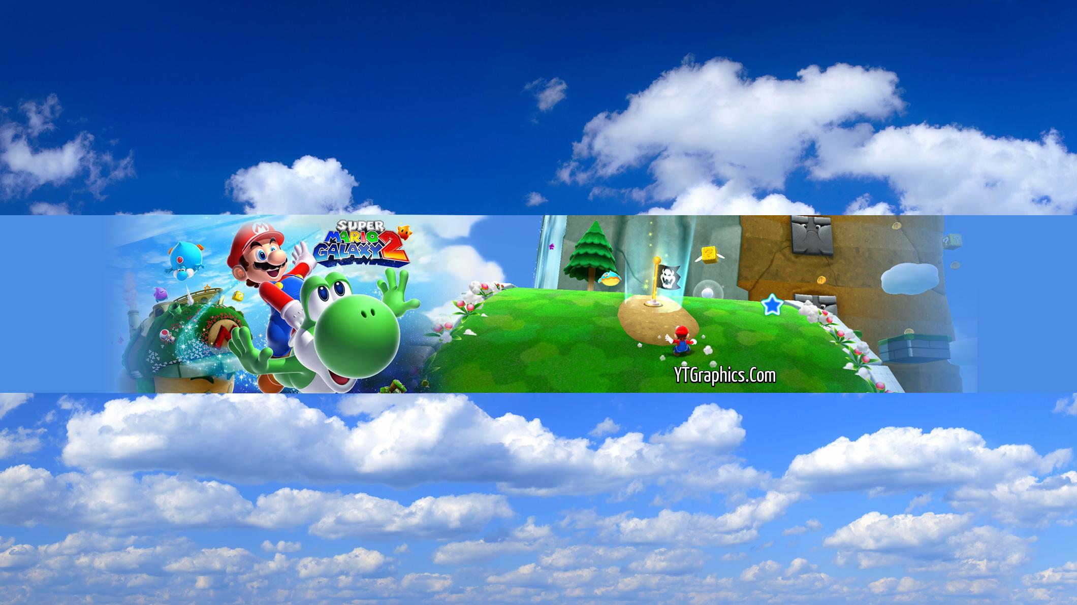 Super Mario Galaxy 2 Youtube Channel Art Banner