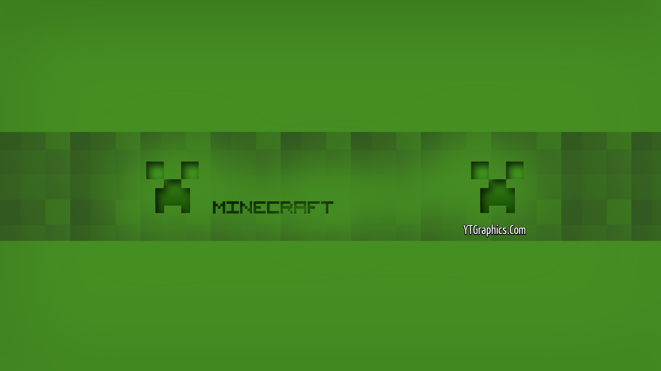 Green Minecraft Channel Art Banner - YouTube Channel Art Banners