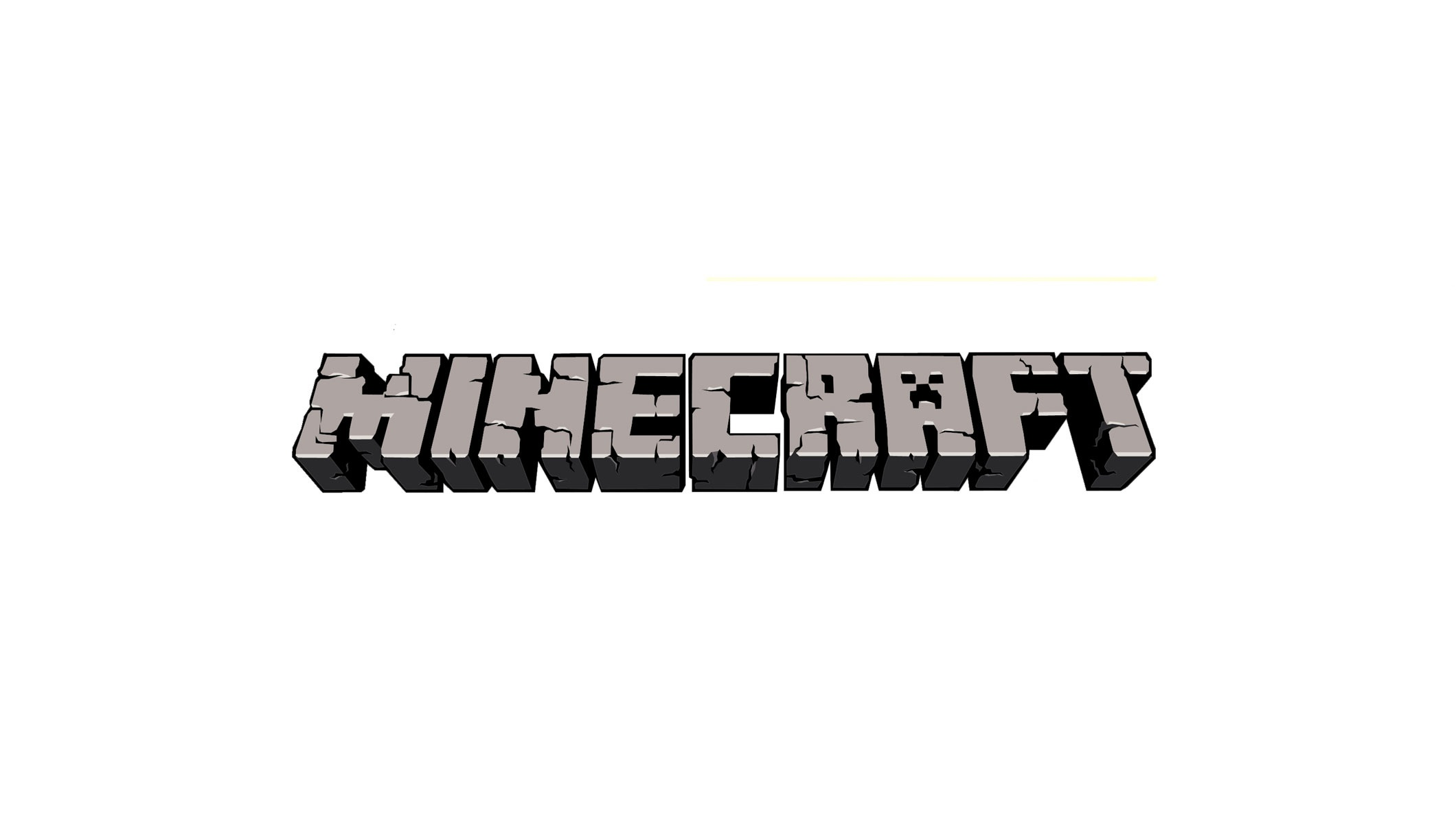 Description a basic minecraft banner displaying the minecraft logo