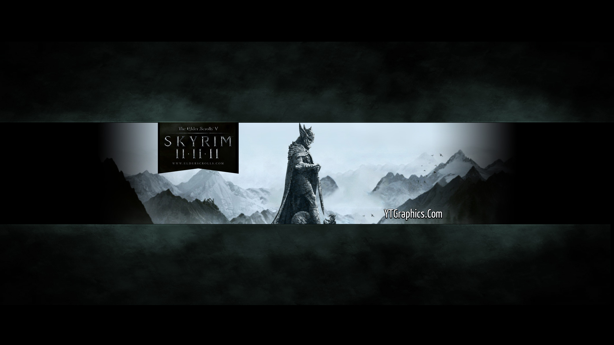 Skyrim Youtube Channel Art Banner - YouTube Channel Art Banners