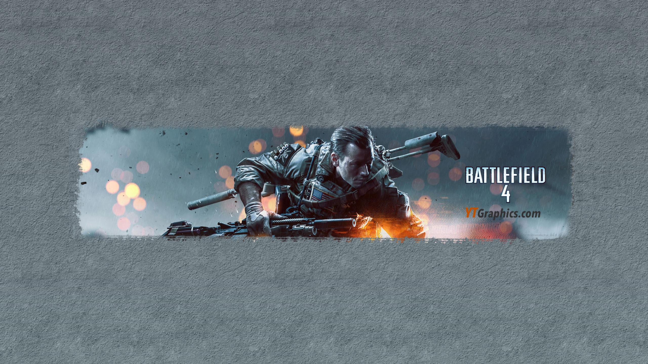 Battlefield 4 Youtube Channel Art Banner
