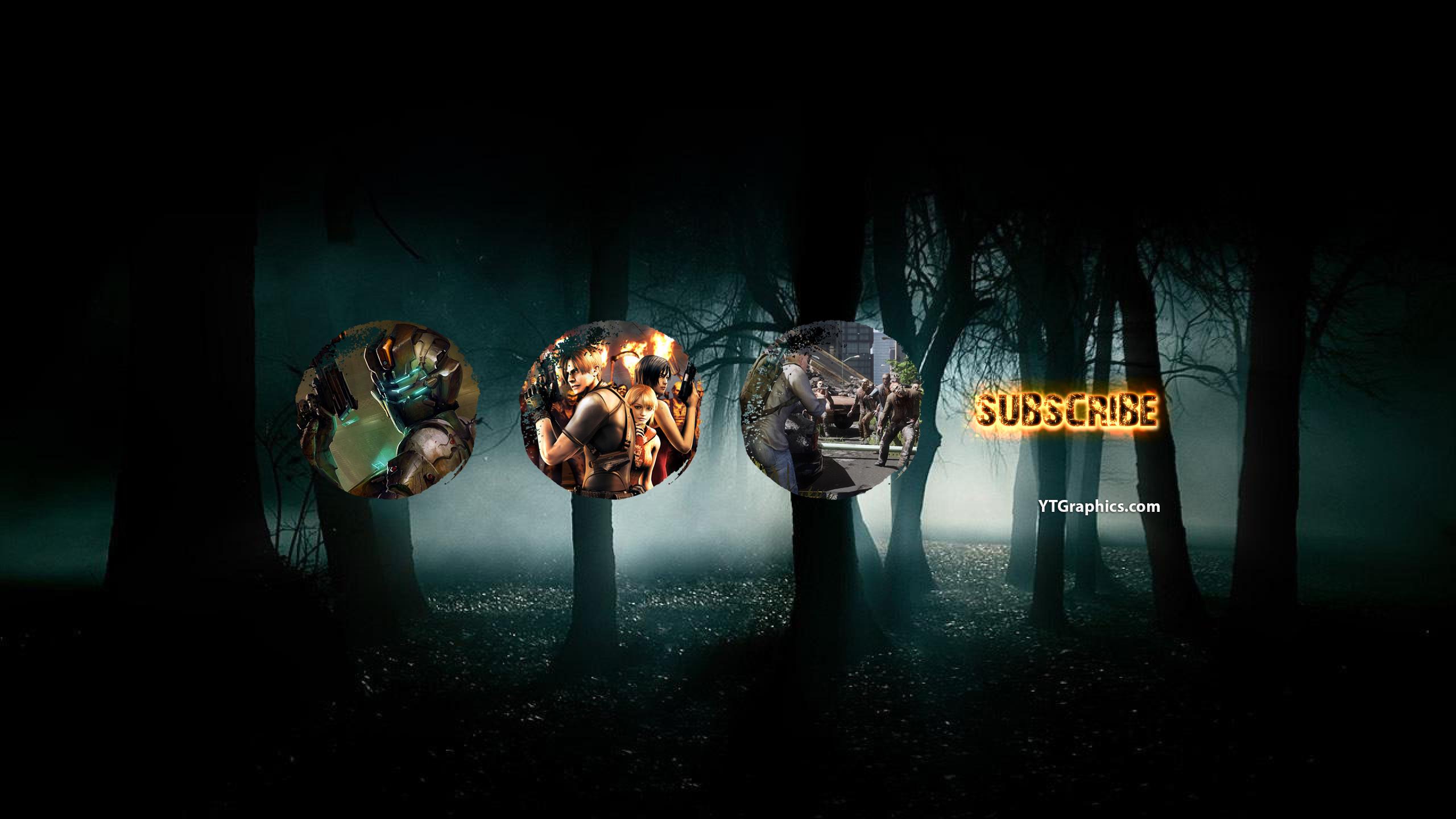 horror games youtube channel art
