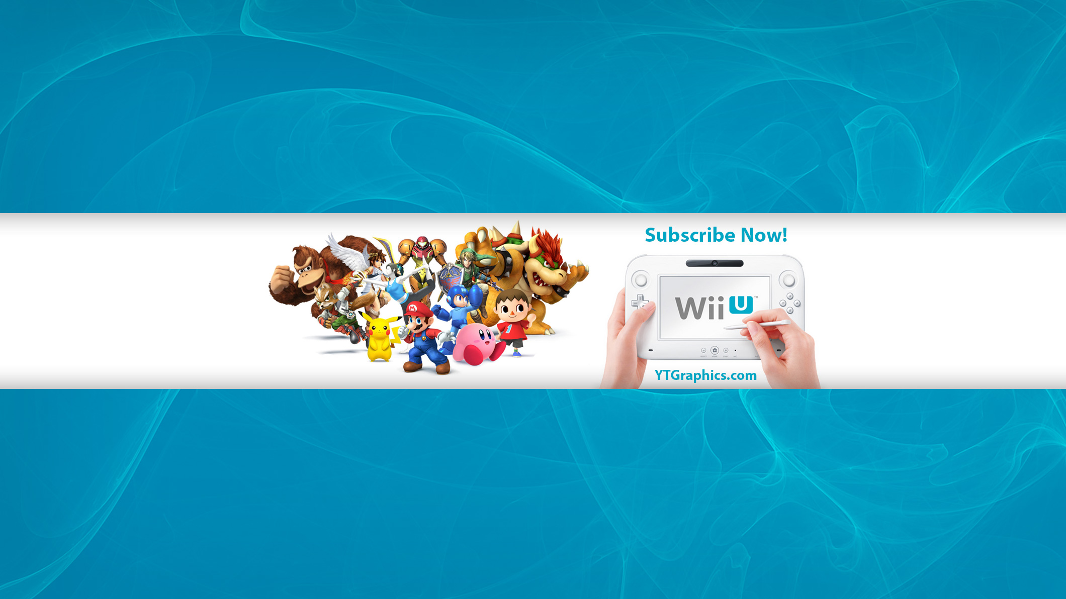 Wii U Games Youtube Channel Art Banner - YouTube Channel Art Banners