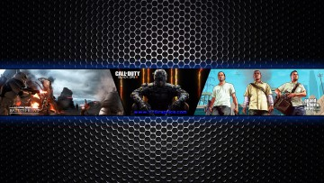 Star Wars: Battlefront, Call of Duty: Black Ops 3,  Grand Theft Auto 5 YouTube Channel Art Banner
