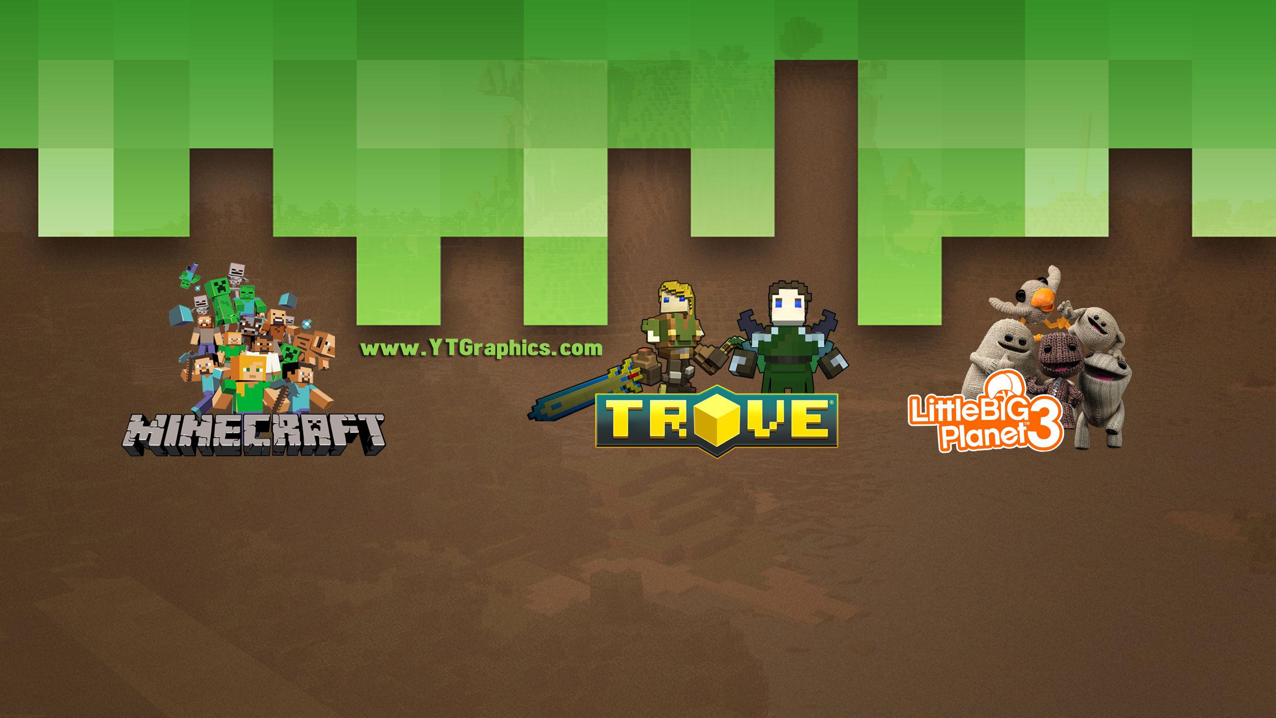 Mix Minecraft Trove Littlebigplanet 3 Youtube Channel Art Banner