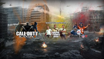 black ops 3, grand theft auto 5, madden 16 youtube channel art banner