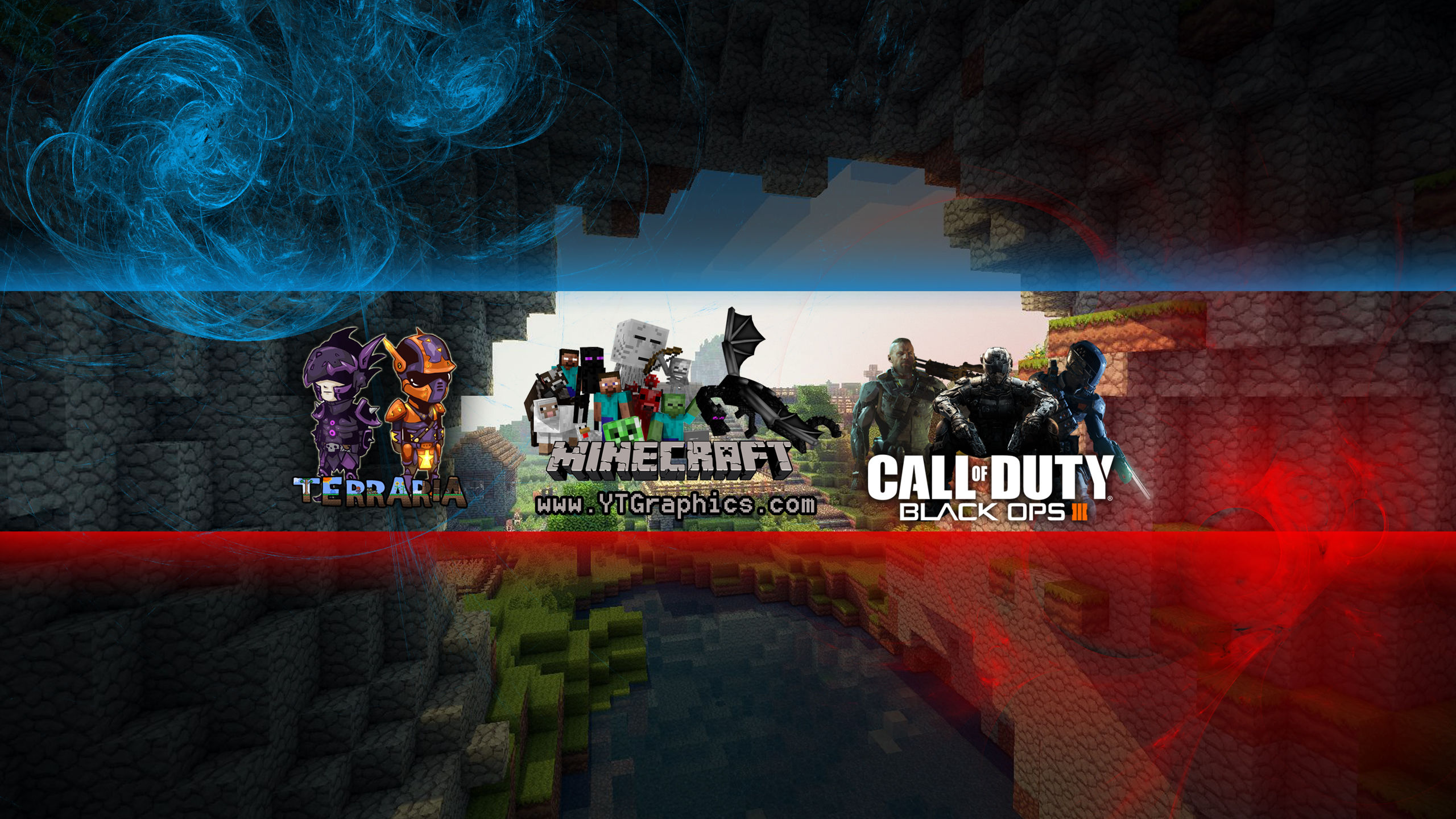 ,  Minecraft, Call of Duty: Black Ops 3 - YouTube Channel Art Banners