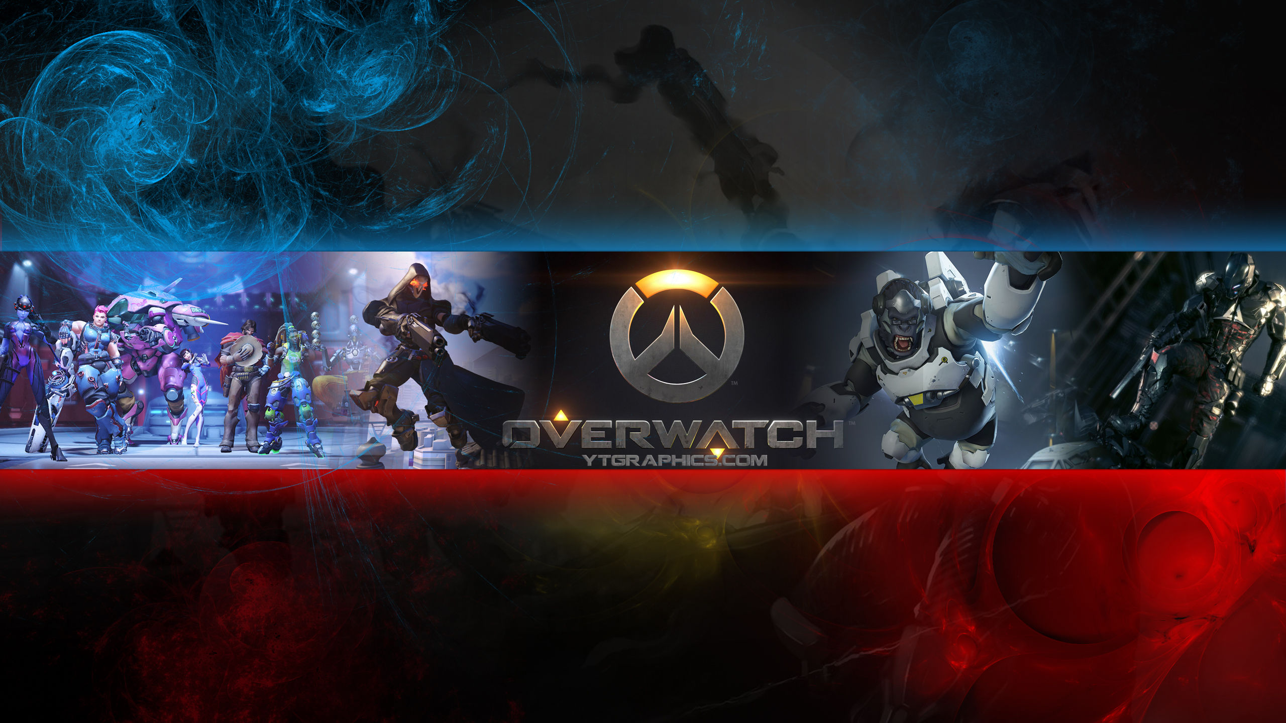 Overwatch Youtube Channel Art Banner