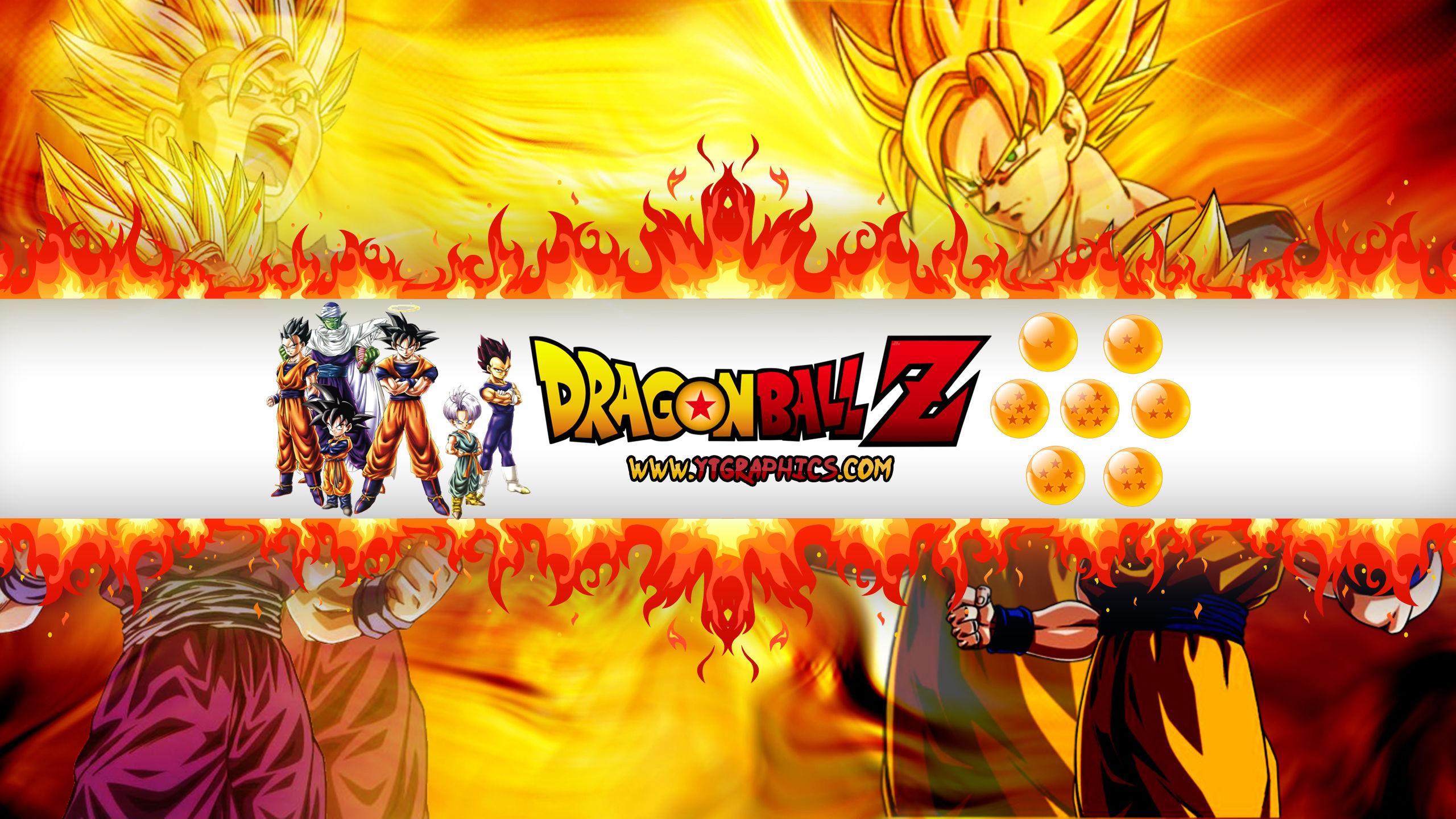Dragon Ball Z Youtube Channel Art Banner