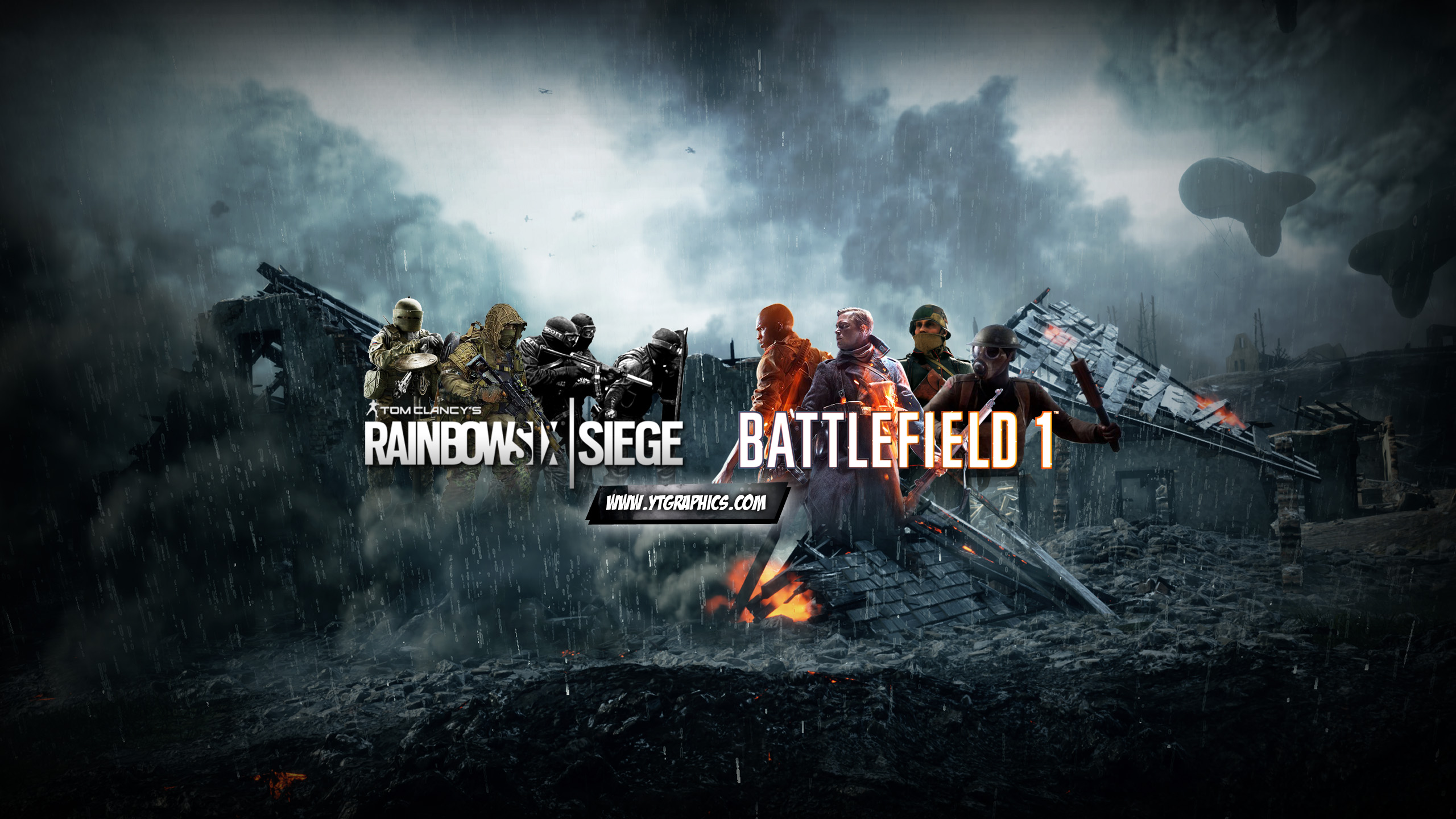 mix rainbow six siege amp battlefield 1   youtube channel